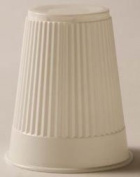 8957444 PT# 9211 Cup 150ml Plastic Embossed Disposable White 1000/Ca Made by Tidi Products LLC