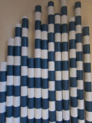 Navy Vintage Sailor Striped Paper Drinking Straws, 25 Ct. - Twilight Parties