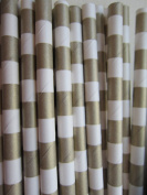 Gold Sailor Striped Paper Drinking Straws 25 Ct. - Twilight Parties