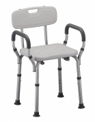 Nova Ortho-med Quick Release Shower Chair with Back, White