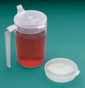 Clear Cup With Two Lids, 300ml