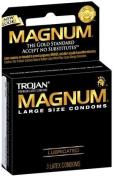 Trojan Magnum Lubricated Latex Condoms-3 ct