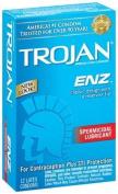 Trojan-Enz Spermicidal Lubricated Latex Condoms-12 ct