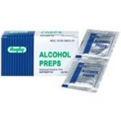 Rugby Antiseptic Alcohol Prep Wipes 100 packets