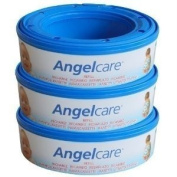 3 X Angelcare Nappy Disposal System Refill Cassettes Wrappers Bags Sacks Pack Best Quality. Ship Worldwide