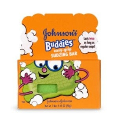Johnson & Johnson Buddies Easy Grip Sudzing Bar