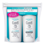 Kao Curel Body Wash (45ml) & Lotion (45ml) - Mini Set