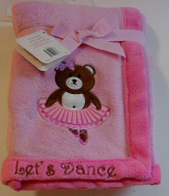 S.l. Home Fashions Baby Blanket Embroidered and Appliqued Monkey Let's Dance