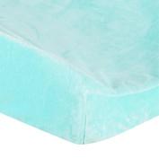 . Plush Changing Pad Cover - Aqua
