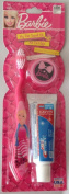 """Barbie """"My Fab Travel Kit"""" Toothbrush with Cap and Toothpaste"""