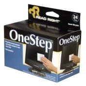 o Read/Right o - One Step CRT Screen Cleaning Wipes, 24 Foil Packets