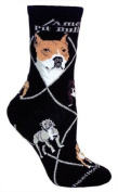 American Pitbull Black Cotton Dog Novelty Socks for Adults 9-11