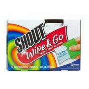 Shout Wipe & Go, Portable Stain Treater Towelettes 12 ea