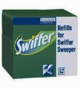 Procter & Gamble Commercial : Swiffer Refill Dry Cloths, 32/BX -:- Sold as 2 Packs of - 32 - / - Total of 64 Each