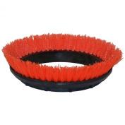 Oreck Commercial 237.047 Crimped Polypropylene Scrub Orbiter Brush, 30cm Diameter, 0.1cm Bristle Diameter, For 550MC Orbiter Floor Machine, Orange