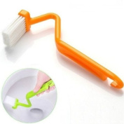 V Shape Toilet Brush Handle Bent Household Cleaning Tools
