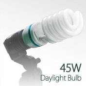 LimoStudio Photography Video Perfect Daylight CFL Fluorescent Light Bulb 6500K Daylight balanced 45W by LimoStudio, AGG876
