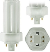 PL32W/3U/4P/841 25 Pack 32 Watt T4 GX24q-3 Triple Tube 4-Pin 10,000 Hour 4100K Dimmable Plug In Compact Fluorescent Light Bulb