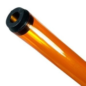 120cm . - T12 - Amber - Tube Guard with End Caps - Coloured Plastic Lamp Sleeve