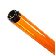 120cm . - T8 - Amber - Tube Guard with End Caps - Coloured Plastic Lamp Sleeve