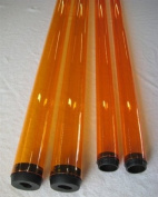 T8 120cm Yellow/Amber Coloured Fluorescent Safety Sleeve - Tube Guard