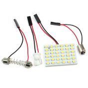 Warm White Car Interior 36 SMD LED Lamp Light Panel T10 Dome Bulb BA9S Adapter