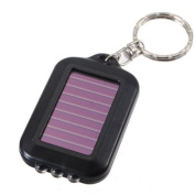 MaxSale Solar Power Rechargeable 3LED Flashlight Keychain Torch