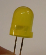 Diffused YELLOW LED - 8mm