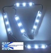 White Waterproof LED Module - 12vDC 3 SMD 5050 LEDs, White Case