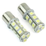RHX 2x Car White 1156 BA15S 18 SMD 5050 LED Tail Turn Signal Single Light Lamp Bulbs