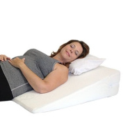 """Acid Reflux Wedge Pillow. The Medslant """"Big"""" with Memory Foam Overlay is a Soft, Wide, Doctor Recommended Wedge Pillow - 80cm L X 80cm W X 15cm H"""