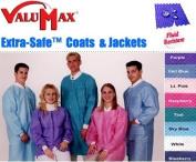 VALUMAX Disposable Lab Coat (Knee Length) Small, Purple, 10/Pk