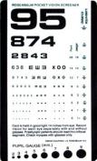 Grafco Pocket Size Plastic Eye Chart, 16cm x 8.9cm Model # 1243