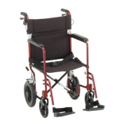 NOVA 330 Lightweight Transport Chair with Hand Brakes and 30cm Rear Wheels, 48cm