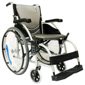 Karman Healthcare S-105 Ergonomic Ultra Lightweight Manual Wheelchair, Pearl Silver, 41cm Seat Width