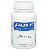 Pure Encapsulations - Zinc 15 - 180's