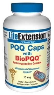 Life Extension - PQQ Caps with BioPQQ Pyrroloquinoline Quinone 10 mg. - 30 Vegetarian Capsules ( Multi-Pack)
