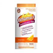 Metamucil Daily Fibre Supplement, 100% Natural Psyllium Husk, Orange Coarse Sugar Fibre Powder, 114 Doses