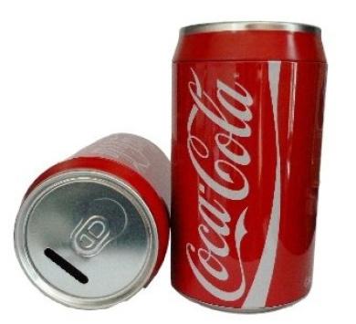 Coca Cola Novelty Money Box (20cm) - Coca Cola Tin Money Box / Cola Can