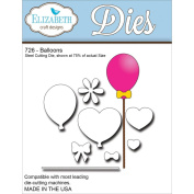 Elizabeth Craft Designs EC726 Elizabeth Craft Metal Die-Balloons