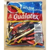 Qualatex 260Q Balloons - Assorted Colour Twisty Balloons - One Hundred Count - Perfect for Sculptures Toy / Game / Play / Child / Kid