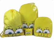 4PCS SPONGEBOB KIDS BOYS WHEELED BAG TROLLEY SUIT CASE LUGGAGE SET BACKPACK NEW