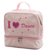 Girls Pink Satin School Ballet Love Dance Shoe Hand Bag By Katz Dancewear KB62