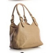Big Handbag Shop Womens Medium Size Plain Multi Pocket Shoulder Bag with a Long Strap