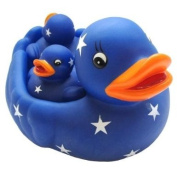 Family of Rubber Ducks 4pcs - Blue With Stars