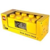 LEGO LEGO 9002144 alarm clock alarm clock yellow Yellow Plastic Alarm Brick Clock