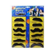 BestOfferBuy 12PCS Halloween Costume Party Funny False Moustache Moustache Beard