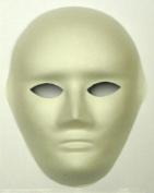 1 X FULL FACE MASK, PAINT MASK DECORATE PLAIN MASKS. Venetian Masquerade fancy dress mask