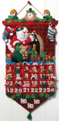 Must Be Santa Advent Calendar Felt Applique Kit-33cm x 60cm