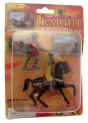 Creative play plastic knight on horseback with Pikeman playset - design 2